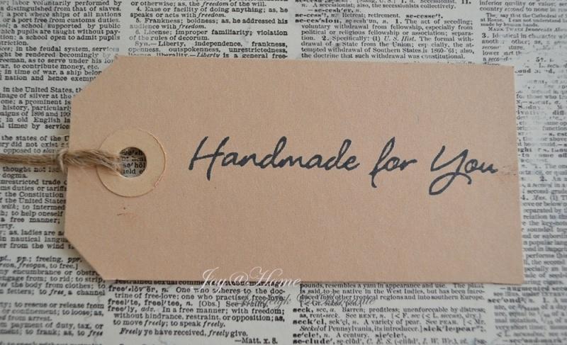 Label Handmade for you in 7 kleuren