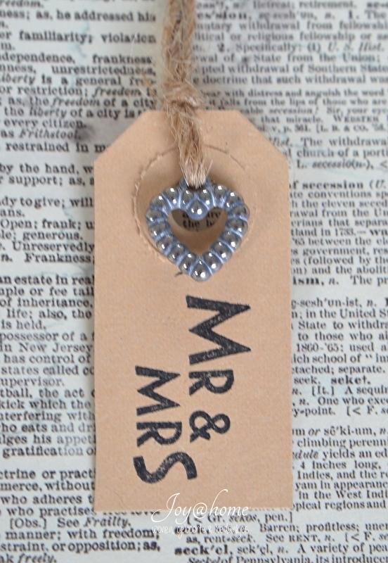Label Mr & Mrs in 7 kleuren, met of zonder bedelhartje