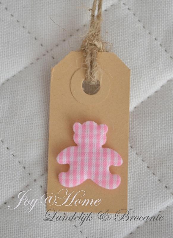 Label roze beertje