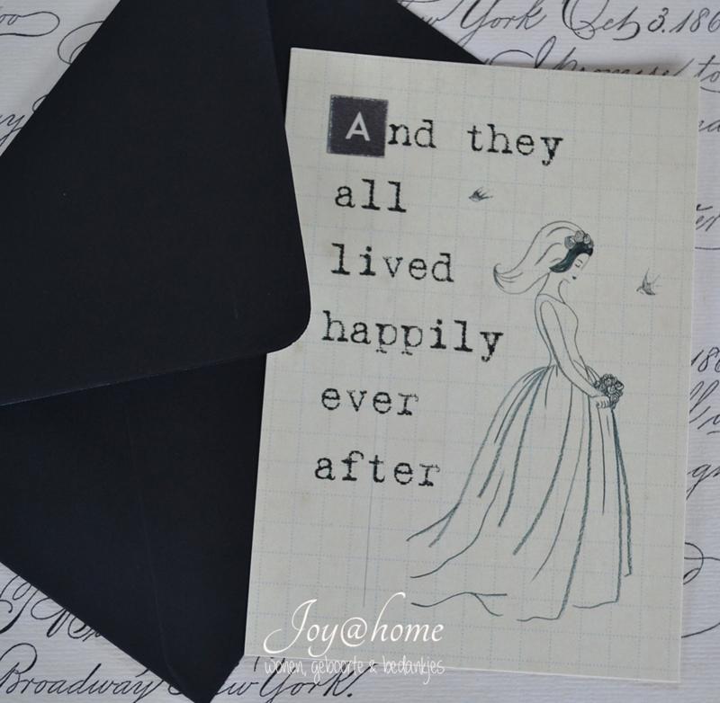 Kaart & envelop happily…..