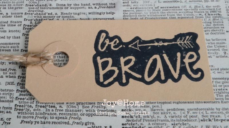 Label Be Brave in 7 kleuren