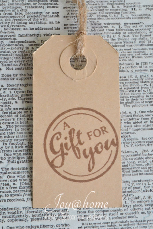Label A gift for you in 7 kleuren