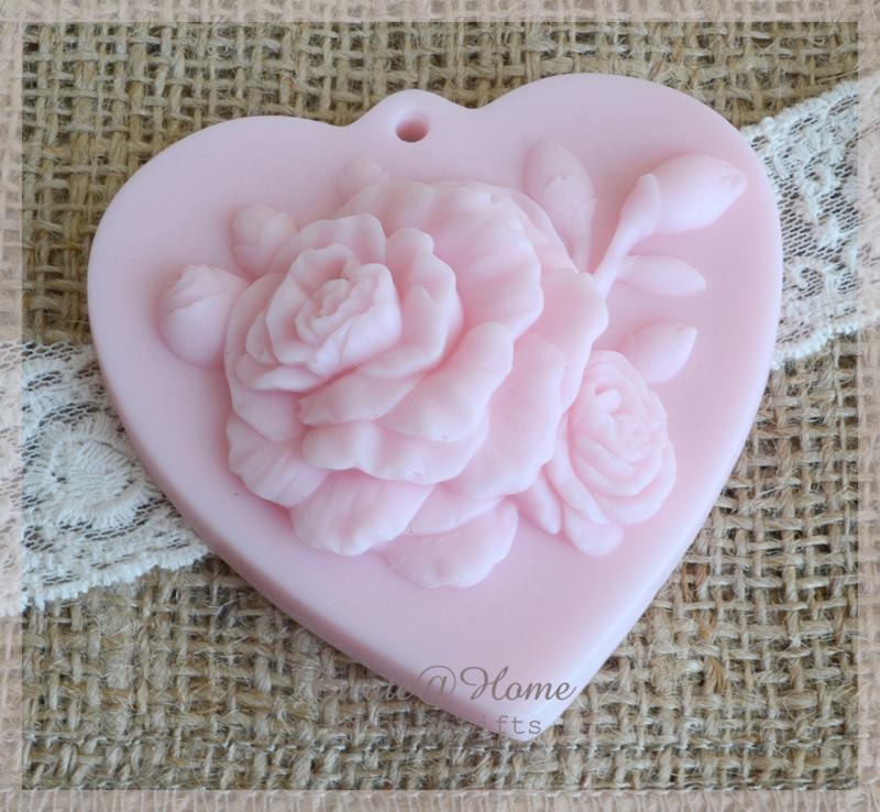 Zeepje hart met rozen
