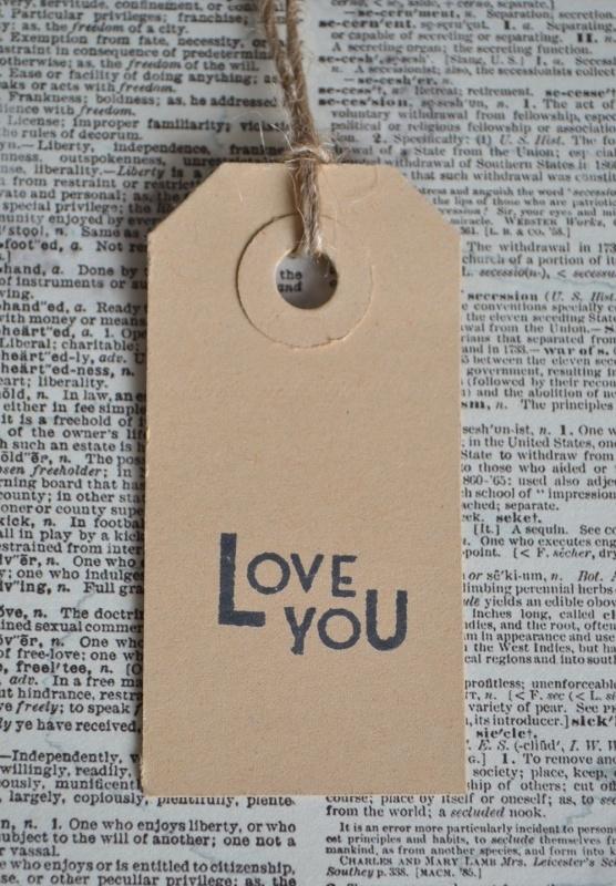 Label Love you in 7 kleuren