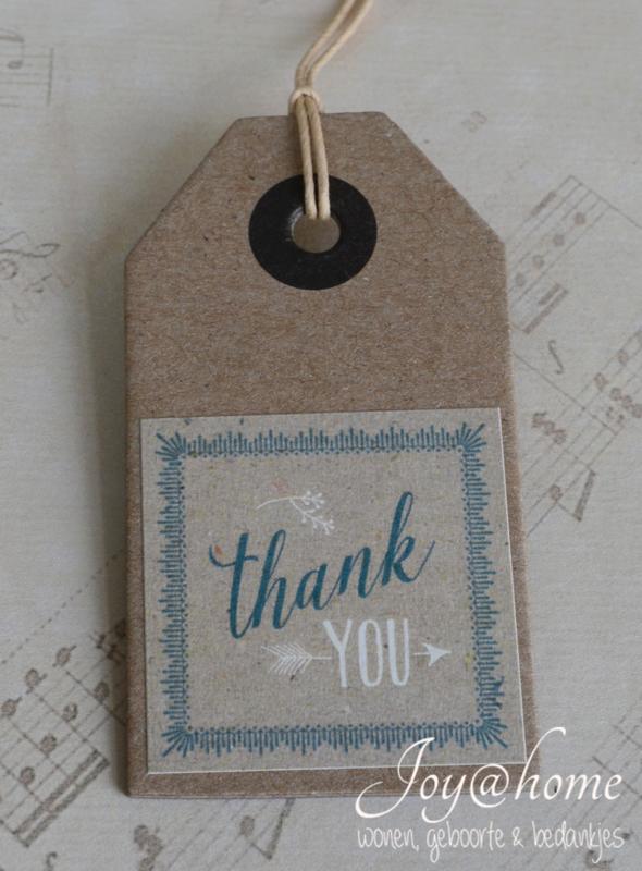 Dikke kraft label Thank you