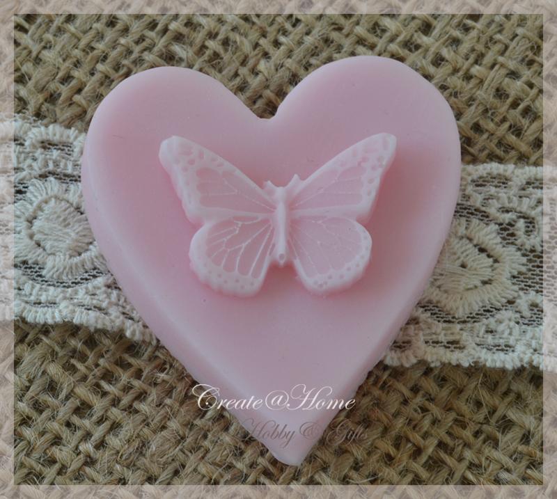 Zeepjes hartje vlinder. Per 5