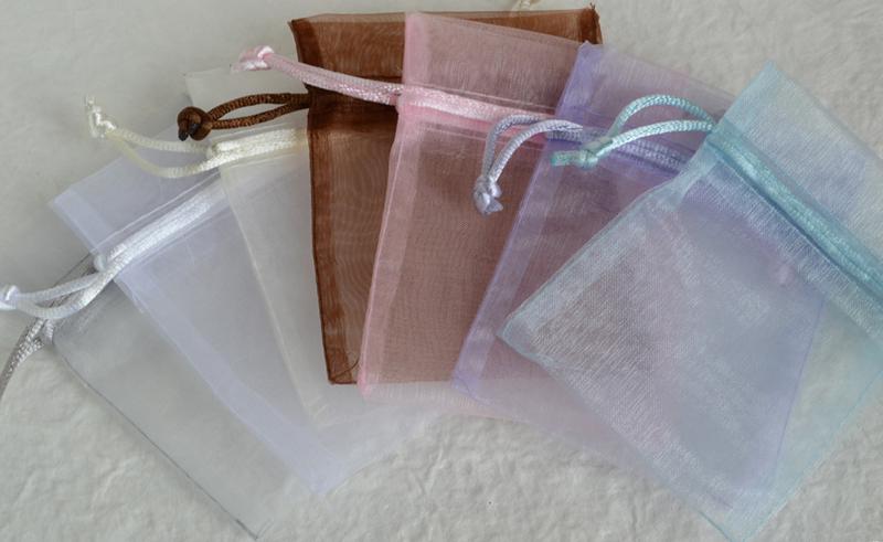 Organzazakje met geraspte zeep & label eigen tekst