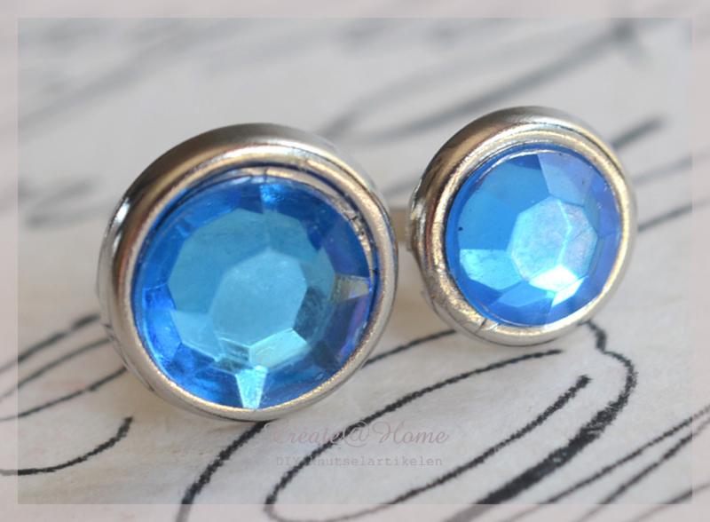 Splitpen strass, blauw