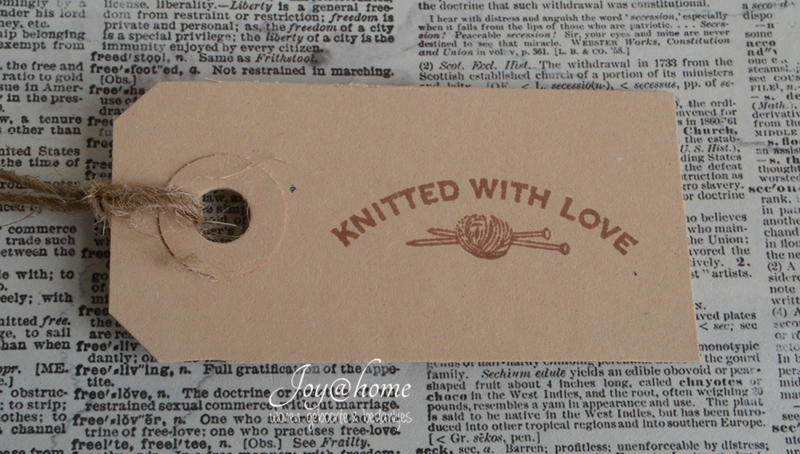 Label Knitted with love in 7 kleuren