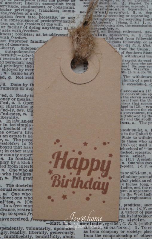 Label Happy Birthday in 7 kleuren