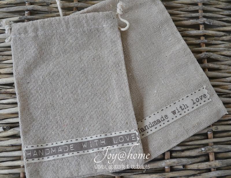 Zakje linnen Handmade
