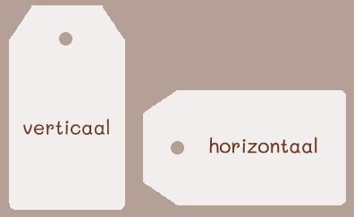 Sleutel met label in kleur naar keuze en met of zonder tekst