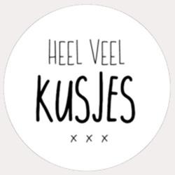Sticker Heel veel kusjes xxx