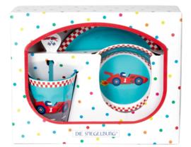 """(Spiegelburg) """"Later als ik groot ben..."""" 4-delige geschenkset 'Racewagen'"""