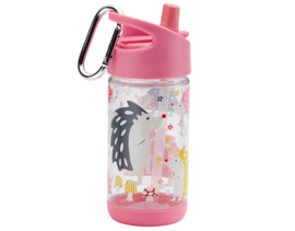 "(Sugarbooger) Drinkfles  Clear Tritan® Flip & Sip®  ""Hedgehog"""