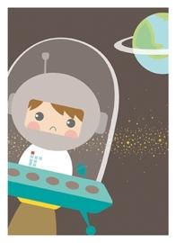 """(Papiergoed) """"Poster Astronaut"""" in 3 maten"""
