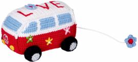 """(Spiegelburg) """"Babygeluk"""" Muziekdoosje gehaakt 'Bus'"""