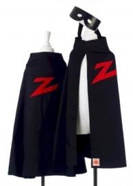 "(Souza for Kids) Zwarte cape met masker ""Zorro"""