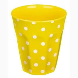 "(Spiegelburg) ""Garden Kids"" Beker geel met witte stippen"
