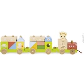 """(Janod) """"Sophie de giraffe"""" houten trein"""