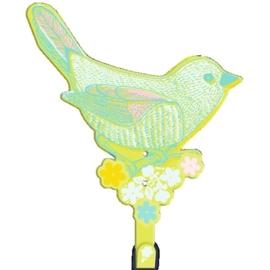 """(Spiegelburg) """"Hello Spring"""" Kapstokhaakje vogel"""