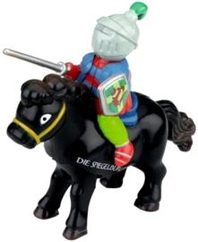 """(Spiegelburg) """"Vincelot"""" Opwindfiguur ridder bruin of zwart"""