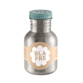 (Blafre) Blauwe drinkfles RVS 300 ml.