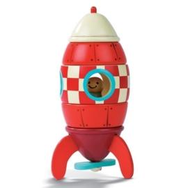 """(Janod) Houten magneetset """"Raket"""""""