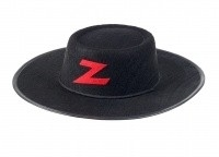 "(Souza for Kids) Zwarte hoed ""Jean - Claude / Zorro"""