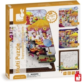 "(Janod) Puzzel multi 3 in 1 ""Fun Fair"""