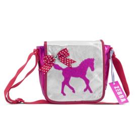 """(zebra Trends) Kindertasje met flap """"Veulen Pink"""""""