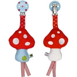 """(Spiegelburg) """"Babygeluk"""" Kinderwagenclip paddenstoel"""