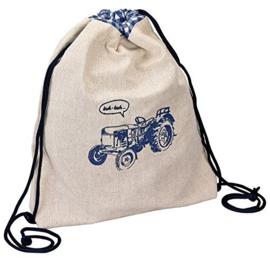 """(Spiegelburg) """"Kleine vrienden"""" Blauw - beige sporttas 'Tractor'"""