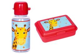 "(Spiegelburg) AANBIEDING "" Little Rascals"" Broodtrommeltje & Drinkfles 'Giraf'"