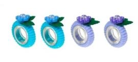 """(Souza for Kids) Haarelastiekjes blauw - paars """"Odile"""""""