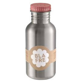 (Blafre) Roze drinkfles RVS 500 ml.