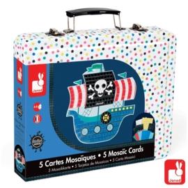 "(Janod) ""Atelier Janod"" knutselen' Mozaïekkaarten Piraat'"