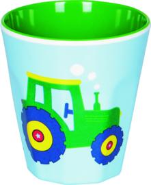 """(Spiegelburg) """"Later als ik groot ben..."""" Bekertje 'Traktor'"""