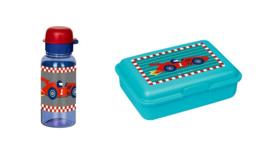 """(Spiegelburg) AANBIEDING """" Later als ik groot ben..."""" Broodtrommeltje & Drinkfles 'Racewagen'"""