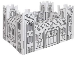 "(Villa Carton) DIY kleur- en knutselkasteel ""Ridderkasteel Mini"""