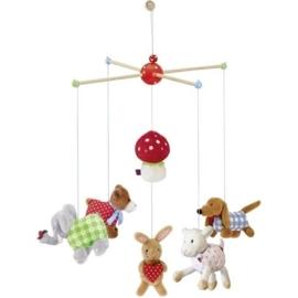 """(Spiegelburg) """"Babygeluk"""" Mobiel met paddenstoel en dieren"""