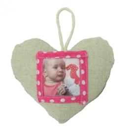 (Dushi) Foto hart linnen roze