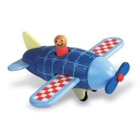 "(Janod) Houten magneetset ""Vliegtuig"""