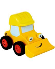"""(Spiegelburg) """"Later als ik groot ben,..."""" Houten Little Town bulldozer Bagger met terugtrekmotor'Graafmachine'"""