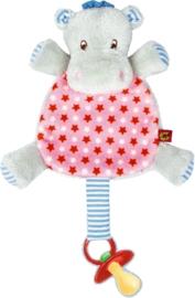 """(Spiegelburg) """"Babygeluk"""" Speendoekje nijlpaard roze 'Hippo'"""