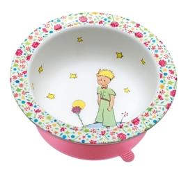 """(Petit Jour Paris) """"Le Petit Prince"""" Schaaltje met zuignap roze"""
