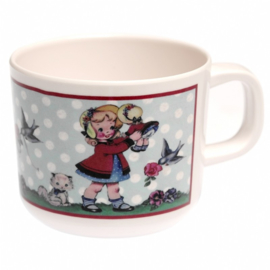 "(Dotcomgiftshop) ""Dolly girl"" Drinkbeker met oor"