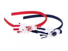 "(Souza for Kids) Haarband rood - wit met strikje ""Vicky"""