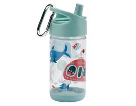 """(Sugarbooger) Drinkfles  Clear Tritan® Flip & Sip® """"Ocean"""""""