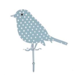 (Sass & Belle) Haakje vogel blauw met stippen